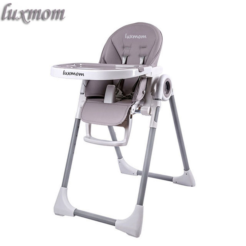 LUXMOM Feeding Chair With Wheels,foldable,Easy To Carry,high Quality Baby Highchairs.