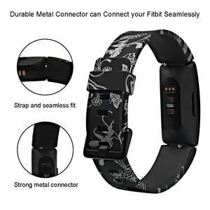 Image 3 - Fitbit inspire hr/inspire 용 실리콘 손목 밴드 fitbit inspire 용 스마트 시계 인쇄 무늬 교체 시계 밴드 스트랩