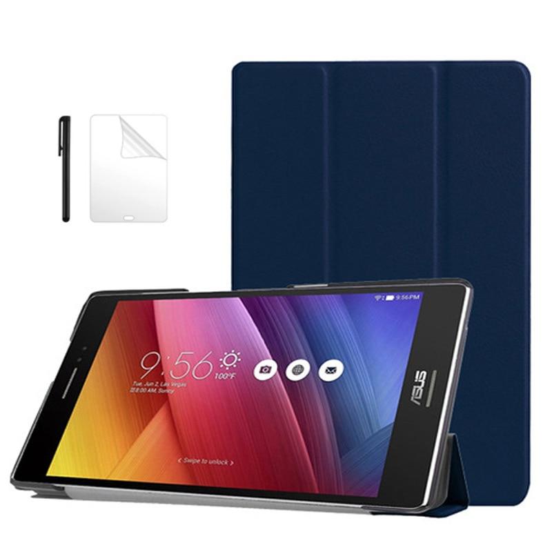 Folding Folio PU Leather Case For ASUS Zenpad 8.0 Z380 Z380KL Z380C 8 Inch Smart Cover For ASUS Zenpad 8.0 Tablet Case+flim+Pen