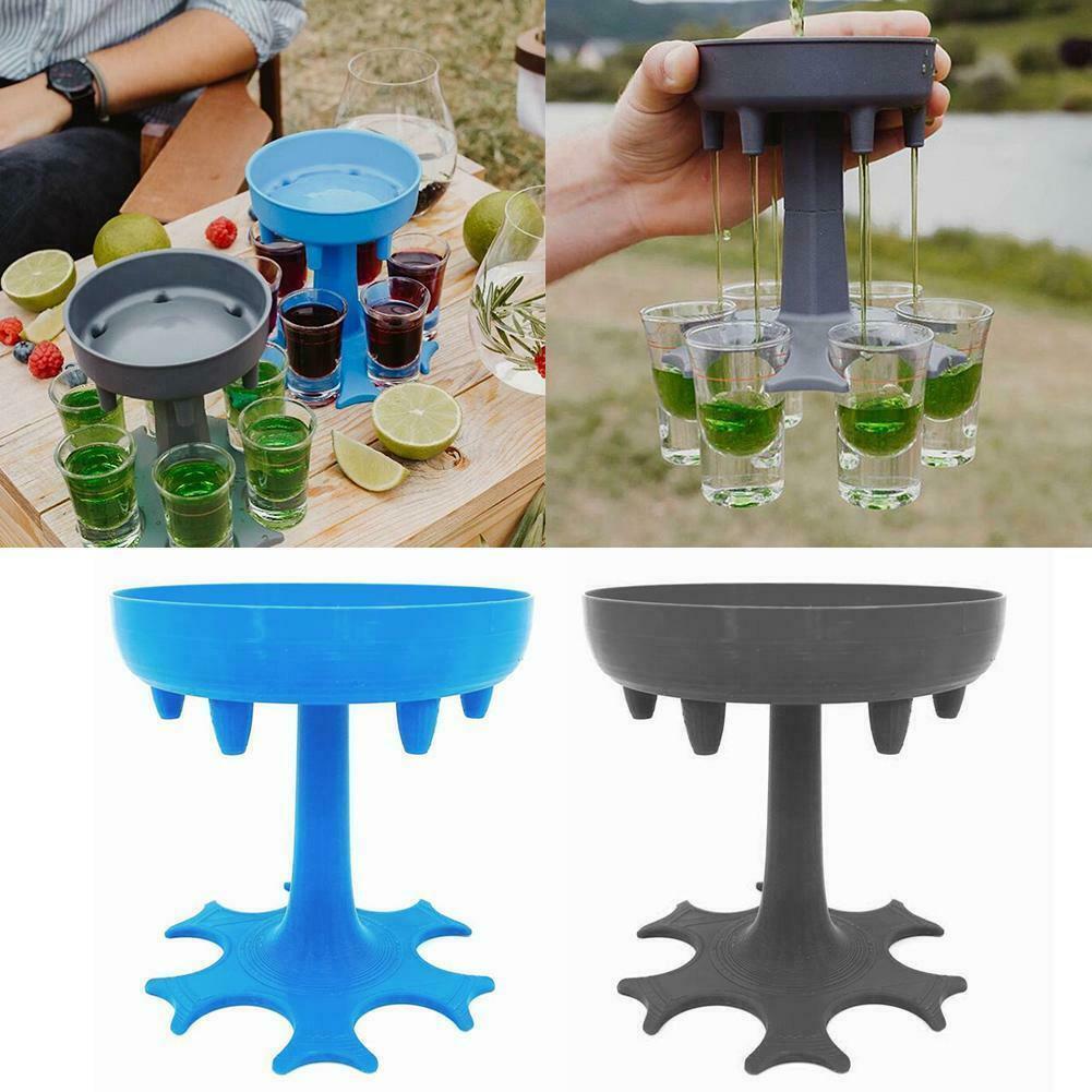 Стеклянный диспенсер для напитков 6 способов, барная посуда, биоразлагаемый пластик, простой и забавный, отличный подарок Вечерние