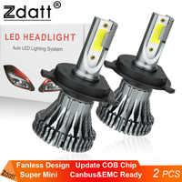 Zdatt H7 LED H4 Mini H11 LED Headlights H1 H8 H9 HB3 9005 HB4 9006 Ice Lamp Fog Lights 6000LM 60W 6000K LED 12V 24V Automobiles