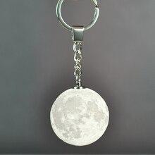 CHIZAO 3D Print LED Lamp Moon Earth Jupiter Shape 7 colors Luminous Keychain Nightlight 3D Printing Creative Moonlight Gifts