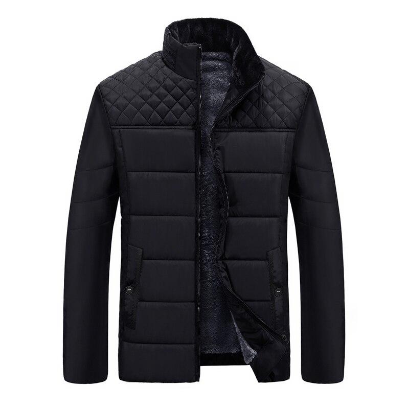 Men's Winter Jacket Casual Warm Parka Men Stand Collar Coat Men Winter 2020 Men Clothes Thick Parkas Man L-4XL Black Men Coat