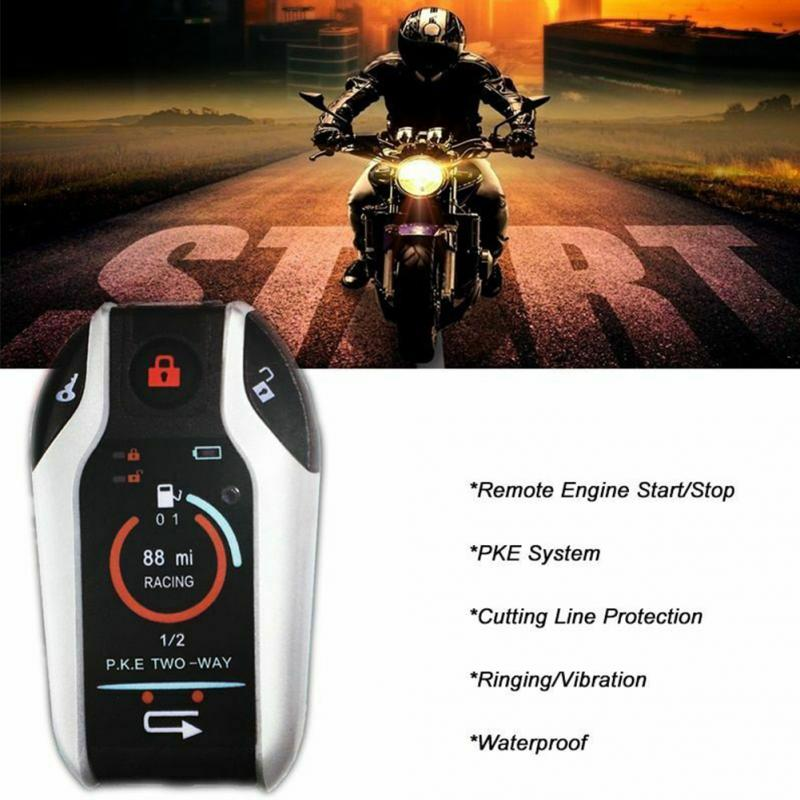 Two Way Motorcycle Alarm Remote Start Motorbike 12V Anti-theft Security System Scooter Moto Motor Protection Automatic Lock