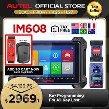 Autel IM608 MaxiIM 608 OBD2 skaner OBDII samochodów automatyczne narzędzie diagnostyczne OBD 2 cały System programowania kluczy PK IM508 klucz programujący