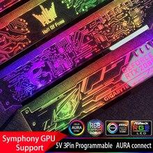 גרפיקה כרטיס תמיכה מסגרת צבעוני/RGB/D RGB LED VGA כרטיס מחזיק, מארז אמונה מנורת שקע אור זיהום ASUS הילה