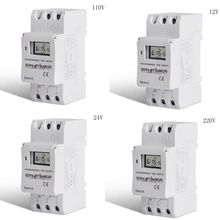 цена на 12V/24V/110V/220V Din Rail Mount Timer Switch Electronic Weekly 7 Days 24 Hours Programmable LCD Time Relay Timer Control