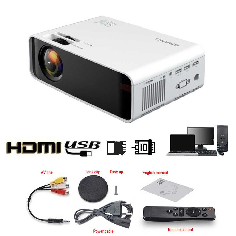 W80-proyector Mini 3D para cine en casa, con Android WiFi, proyector LED de 2300 lúmenes, LCD, vídeo, USB, VGA, compatible con 3D, HDMI, VGA, AV, Beame
