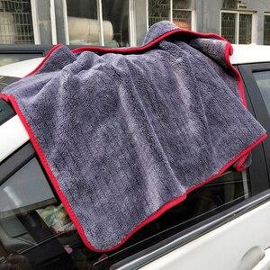 Image 4 - Mikrofaser Handtuch Auto Waschen Zubehör 60*90cm Super Saugfähigkeit Auto Reinigung Tuch Premium Mikrofaser Auto Handtuch 900GSM