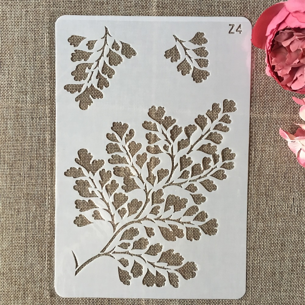 26cm Tree Leaves DIY Layering Stencils Wall Painting Scrapbook Coloring Embossing Album Decorative Card Template