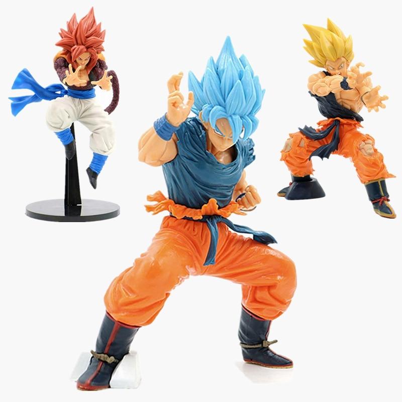 Dragon Ball Character Statue Son Goku Gogeta Vegeta Super Saiya Goku Ultimate Warrior Action Figure Collection PVC Model Toys
