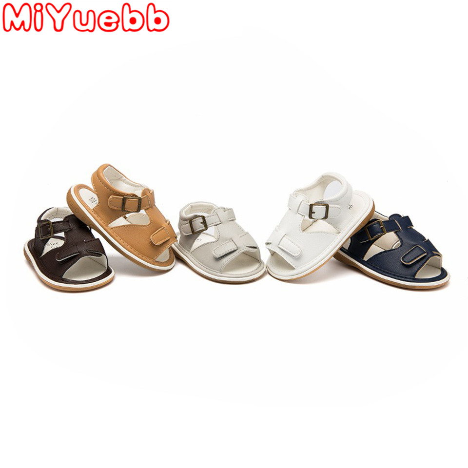 Baby Girl & Boy Flat Heel Casual Sandals Baby Sandals Buckle Method Sole Rubber Material 2020 Summer Fashion Toddler Sandals