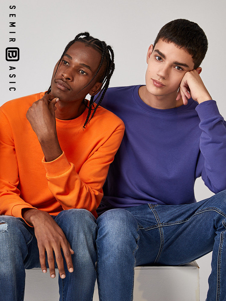 SEMIR Sweatershirt Men 2019 Autumn New Round Neck Pullover Hoodies Men's Korean Chic Clothes Youth Trend O Neck
