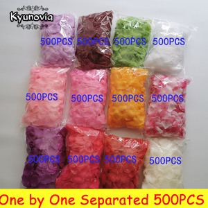 Kyunovia one by one Separated Petals 500pcs Rose Petals Petalos De Rosa Wedding Decoration Artificial Fabric Wedding Rose Petals