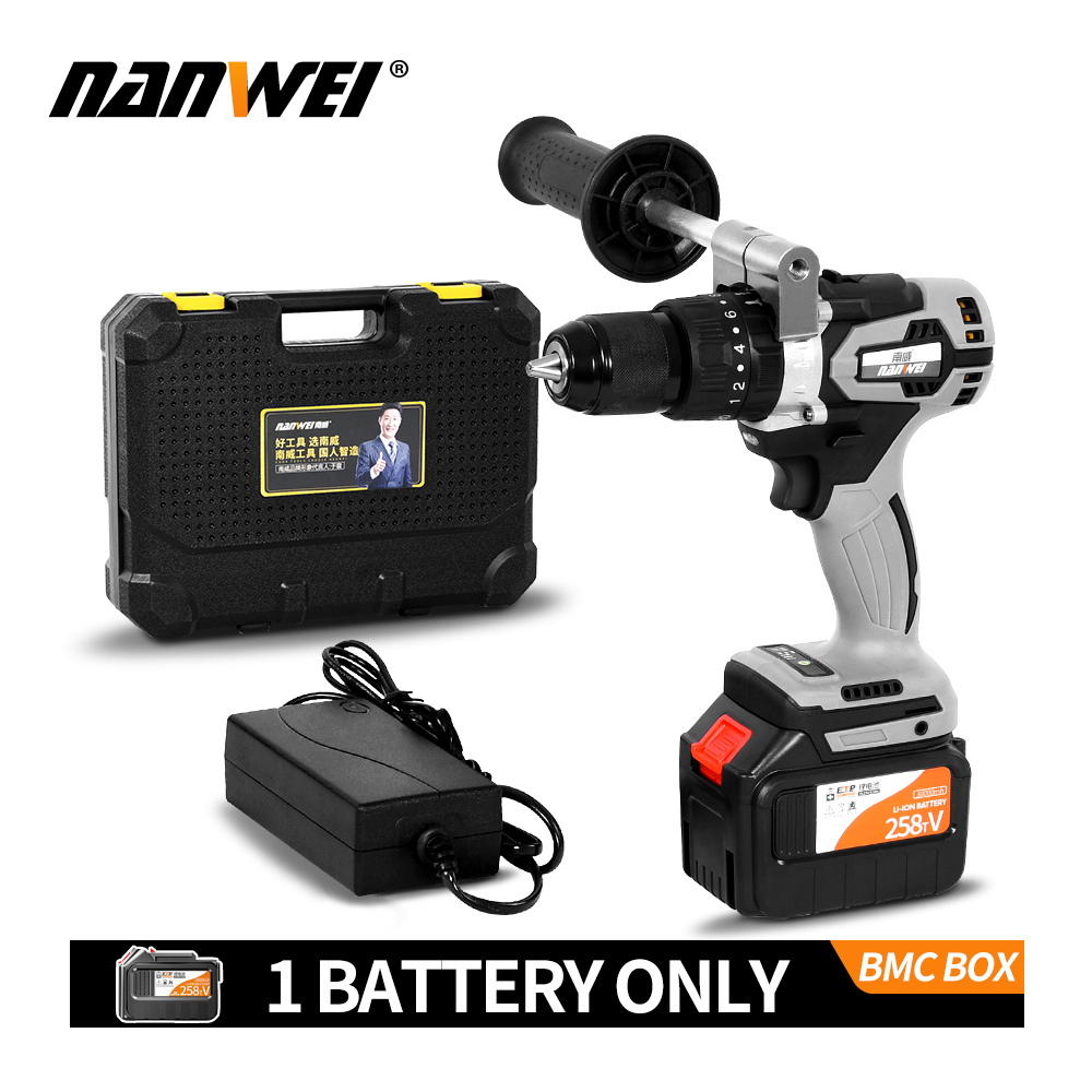 Electric Cordless Screwdriver Impact Drill 3 8inch Driver Li-Ion Batteries Rechargeable DIY Hand Power Tools