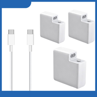 30W/61W/87W Type C PD Wall Charger Power Adapter Fast Charger with Cable For Macbook/For Xiaomi/For Huawei White Travel Charger