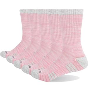 Image 2 - YUEDGE Brand Womens Colorful Cotton Cushion Comfortable Breathable Casual Sports Runing Hiking Crew Dress Socks( 5 Pairs/Pack)