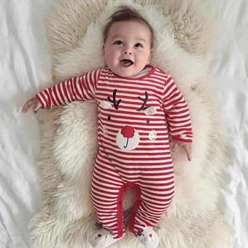 2020 יילוד תינוקות תינוקת ילד חג המולד חג המולד צבי Romper סרבל תלבושות בני בגדים פעוט ילד בגדי ילדים בגדי Bebe
