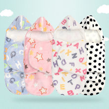 Cartoon Fleece Sleeping Blanket With Zipper Infant Baby Boy Girl Wrap Swaddles muslin swaddle Blankets Wrap Sleepsack Stroller(China)