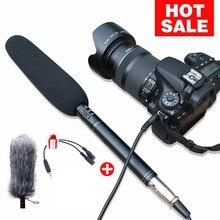 Ulanzi Arimic מקצועי רובה ציד מיקרופון כיוונית הקבל מיקרופון עבור DSLR DV מצלמות וידאו וידאו מצלמה מיקרופון