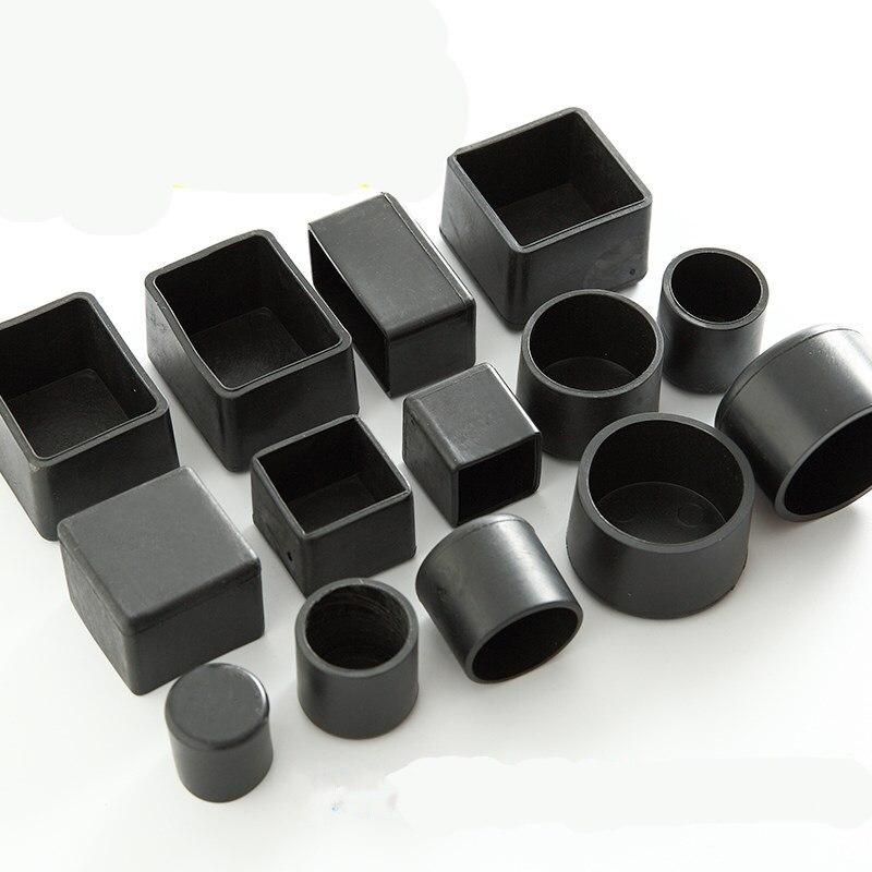 4 個の正方形シリコーン椅子脚不スリップテーブル足ダストカバー靴下床プロテクターパッドパイププラグ家具レベリング足