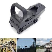Jagd anblick Heißer 20mm Schiene Zielfernrohr Jagd Optik Holographic Red Dot Sight Reflex 4 Absehen Tactical Scope Kollimator Anblick