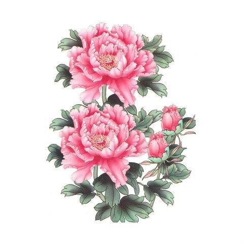 tamanho grande a prova dlarge agua tatuagem temporaria peonia ameixa flor de lotus lobo peixe