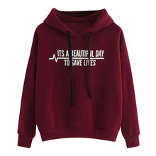 2019 Autumn Women Hoodie Casual Long Sleeve Hooded Pullover Sweatshirts Hooded Female  Letter  Printed 9.9 цена 2017
