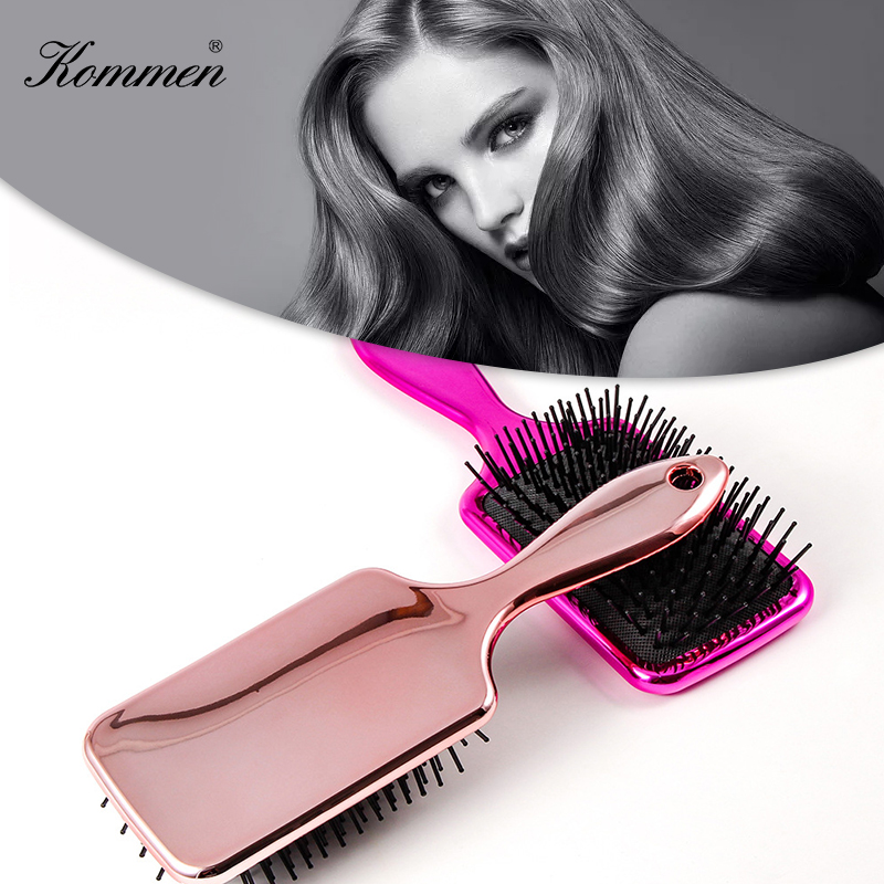 Mirror-style Hair Comb Beauty Anti-Static Haircare Airbag Massage Hair Brush Large Plate Fluffy Hairdressing Barber Accessory