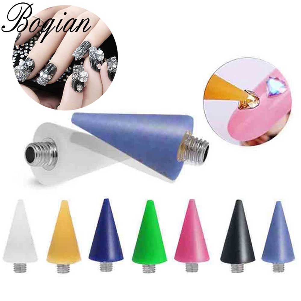 BQAN 28PCS Nail Dotting Wax Pencil Head Replaceable Wax Head For Nail Dotting Pen Beads Rhinestones Gems Picker Self-adhesive
