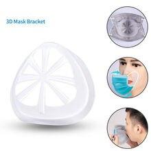 Novo suporte de máscara 3d lnner suporte quadro para esporte crianças evitar batom fora reutilizável máscara de proteção respiratoire a50