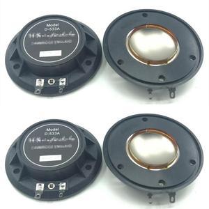 Image 1 - 4 Pcs PURE Aluminum wire Aft Diaphragm For Wharfedale D 533A Driver D533a Evp Series&Titan 8Ohm