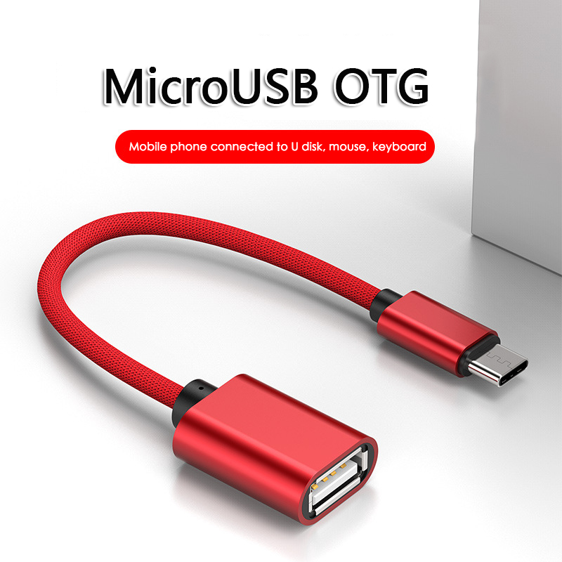 3 Colors 18cm Micro USB OTG Cable Type C OTG Cable Gaming OTG Adapter Cellphone Game Mouse Keyboard Connector For Samsung Xiaomi