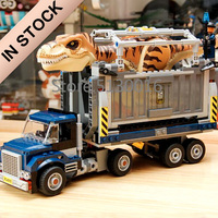В наличии T. Rex транспорт 10927 Юрский Мир серии 609 шт. Парк Юрского периода строительные блоки модель Детские Классические игрушки 75933