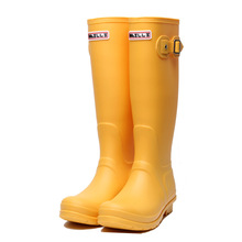 Купить с кэшбэком Rubber Rainboots Tall Rain Boots for Women British Classic Waterproof Rainboots Ladies Wellies Wellington Matte Boots F54