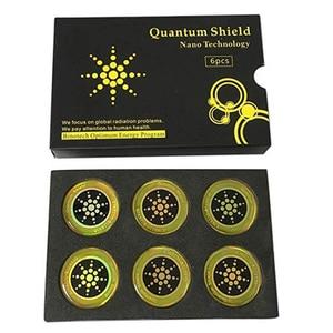 Image 2 - DHL 50 boîtes rondes scalaire bouclier quantique autocollant dénergie Ion négatif Anti rayonnement Protection pour EMF EMR Fusion autocollant de téléphone