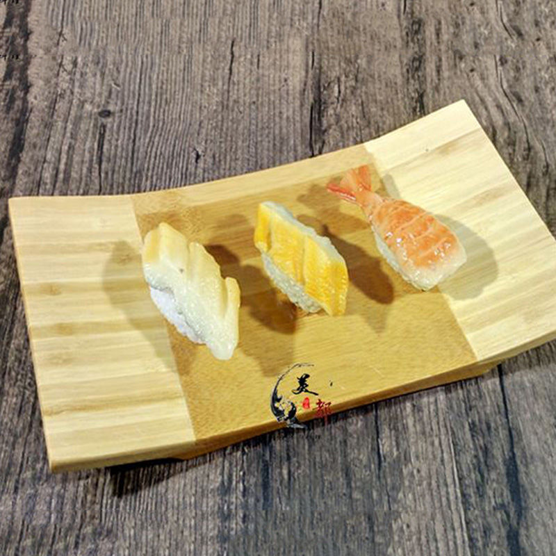 Creative Sushi Tray Japan Style Rectangle Sushi Plate Bamboo Traditional Tableware Cooking Utensils Eco friendly Full of snacks|Dishes & Plates| |  - title=