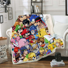 Kids Super Mario Cartoon Blanket 3d Design Flannel Fleece Blanket anime sonic Printed Children boy girl Warm Bed Throw Blanket