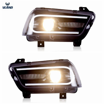 VLAND Factory Accessories For Car LED Lights For Charger LED Headlight 2011-2014 with LED Moving turn signal