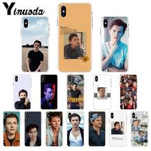 Yinuoda tom holland tpu macio silicone caso do telefone capa para o iphone 8 7 6s plus 5 5S se xr x xs max coque escudo