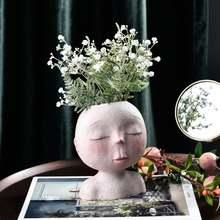 Портрет персонажа растения Цветочный горшок Смола сочные абстрактное