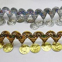 YACKALASI ribete de flecos de lentejuelas de Metal 10 Yds, adornos de banda trenzada dorada y plateada para disfraces de Cosplay, apliques de costura Appare de 4,5 CM