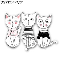 ZOTOONE Iron on Transfers Patch for Clothing Animal Cute Cat Applique Clothes Thermo Stickers Heat E
