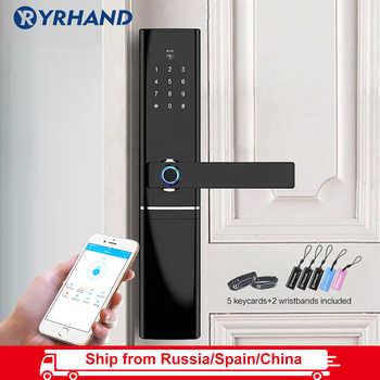 WiFi Fingerprint Door lock, Waterproof Electronic Door Lock Intelligent Biometric Door Lock Smart Fingerprint Lock With App - DISCOUNT ITEM  64% OFF All Category