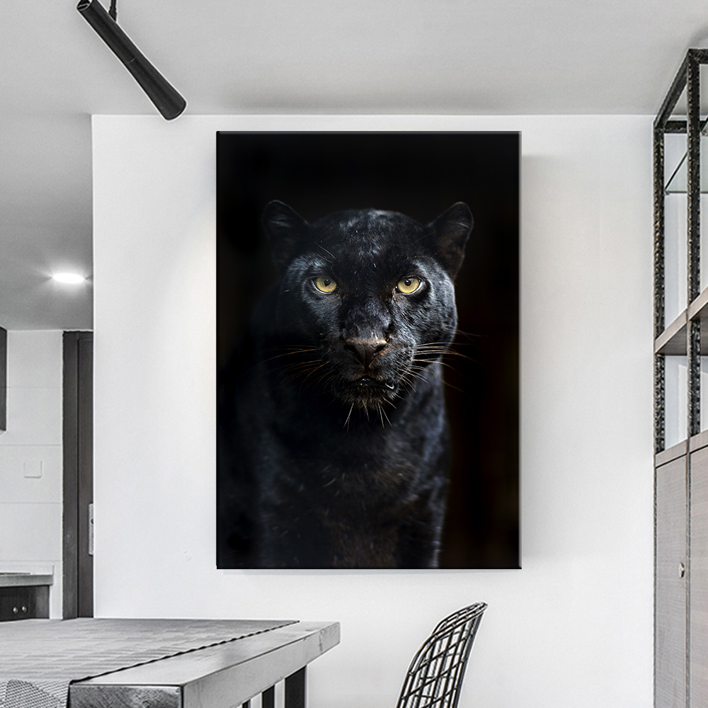 Animals Black Panther 5d diy diamond painting cross stitch mbroidery Handmade Full Square Drill Home decoration-0