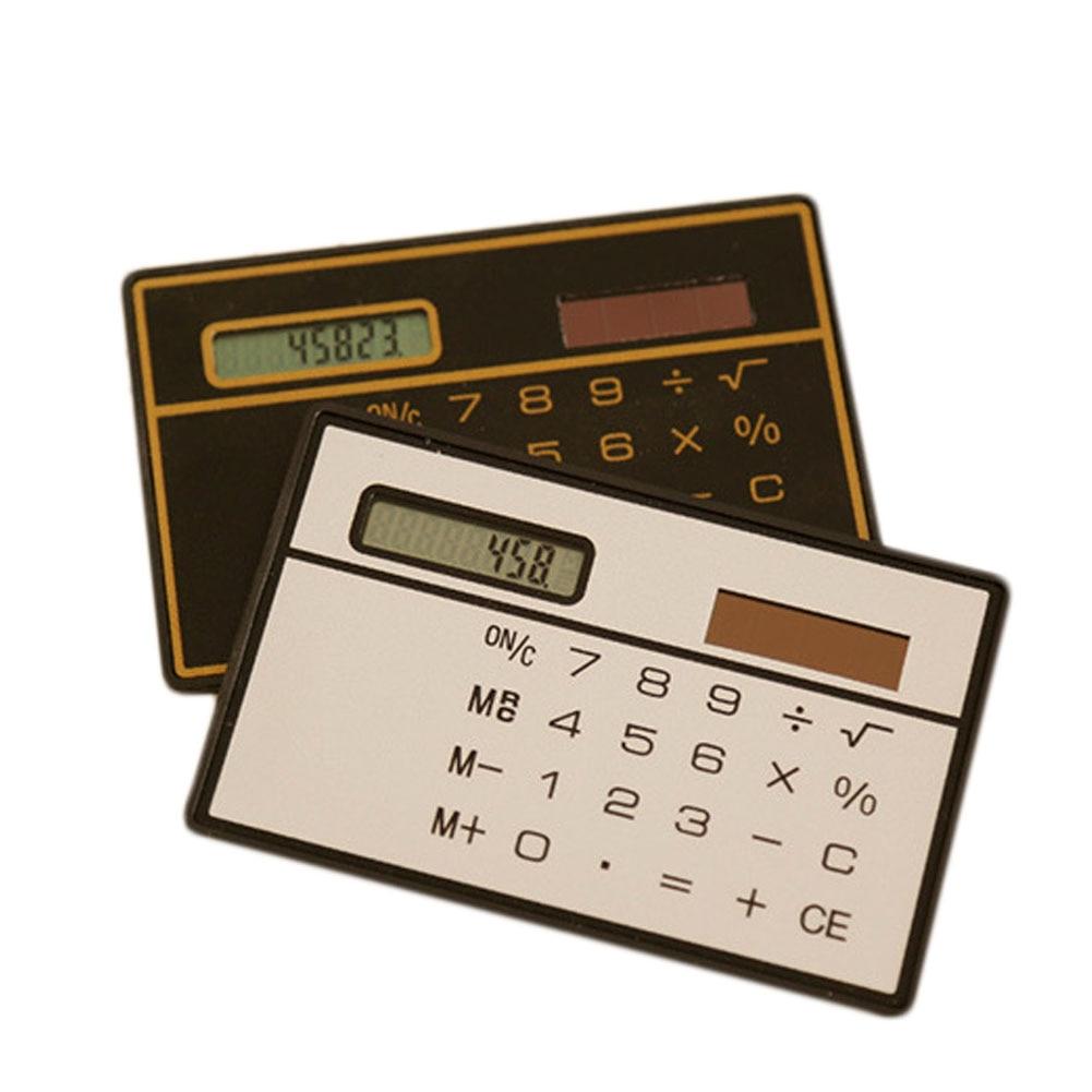 Student Office School Supplies Fashion Mini Electronic Digit Solar Calculator