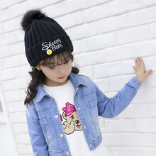 Girls hat scarf autumn and winter princess Korean version of the little girl wild plus velvet cute big boy 2019 new wave