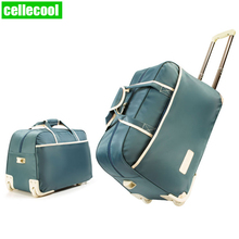 New Fashion Women Trolley Luggage Rolling Suitcase Brand Casual Thickening Rolling Case Travel Bag on Wheels Luggage Suitcase дорожная сумка на колесиках famous rolling luggage 2015 2015 new arrival
