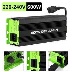Balastos digitales de 600W para jardín, plantador, luces de cultivo, bombillas HPS MH, electrónica regulable