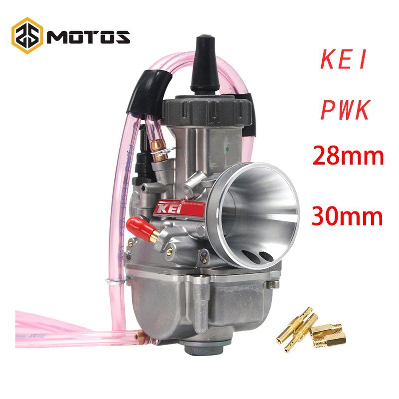 ZS MOTOS universel 28mm 30mm PWK Keihin Moto carburateur pour 125-250cc 4T Moto ATV UTV Pit Bike vélo avec Jet d'énergie